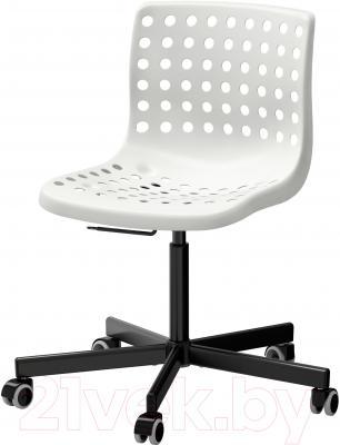 Стул офисный Ikea Сколберг/Споррен 790.236.02 (белый/черный)