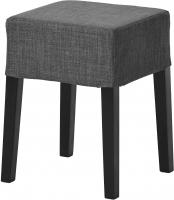 Табурет Ikea Нильс 790.310.08 (черный/темно-серый) -