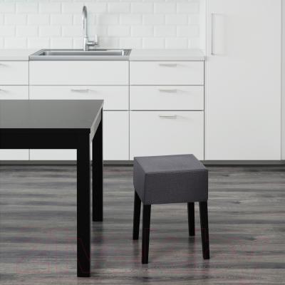 Табурет Ikea Нильс 790.310.08 (черный/темно-серый)