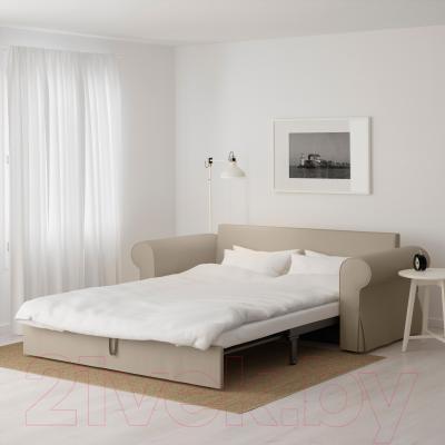 Диван-кровать Ikea Баккабру 790.335.97 (Тигельшо бежевый) - в разложенном виде