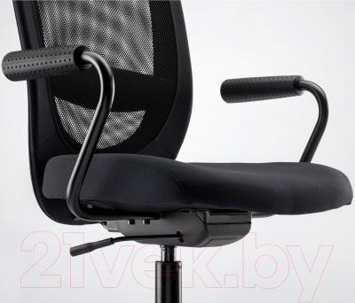 Кресло офисное Ikea Флинтан/Номинель 791.224.47 (черный) - вид спереди