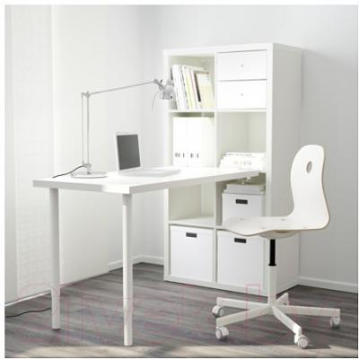 Письменный стол Ikea Каллакс 791.230.84 (белый/синий)