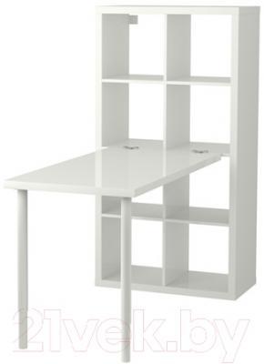 Компьютерный стол Ikea Каллакс 791.230.84 (белый/синий)