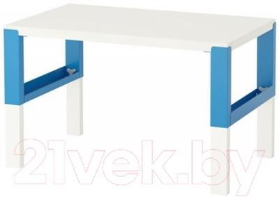 Письменный стол Ikea Поль 791.289.39 (белый/синий)