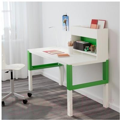 Письменный стол Ikea Поль 791.289.63 (белый/зеленый)