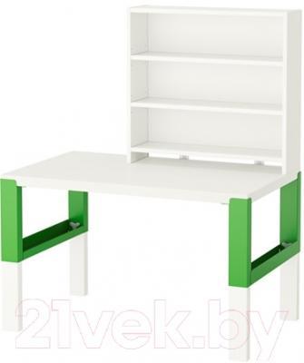 Письменный стол Ikea Поль 791.289.77 (белый/зеленый)