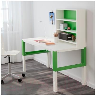 Письменный стол Ikea Поль 791.289.96 (белый/зеленый)