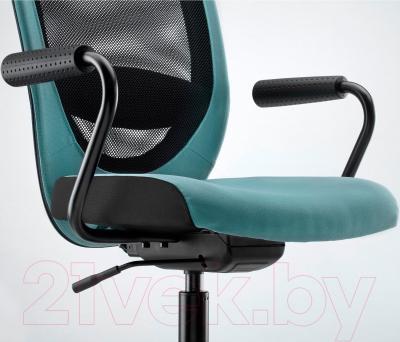 Кресло офисное Ikea Флинтан/Номинель 291.224.78 (бирюзовый) - вид спереди