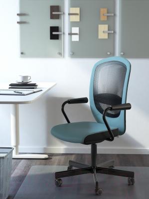 Кресло офисное Ikea Флинтан/Номинель 291.224.78 (бирюзовый) - в интерьере