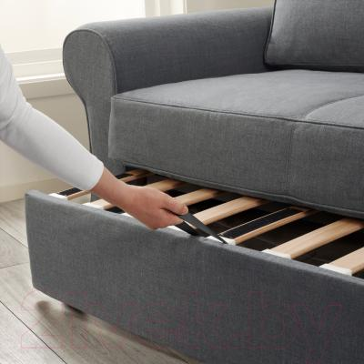 Диван-кровать Ikea Баккабру 791.336.48 (Нордвалла темно-серый) - в процессе раскладки