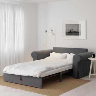 Диван-кровать Ikea Баккабру 791.336.48 (Нордвалла темно-серый) - в разложенном виде