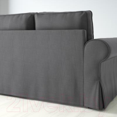 Диван-кровать Ikea Баккабру 791.336.48 (Нордвалла темно-серый) - вид сзади