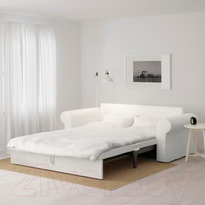Диван-кровать Ikea Баккабру 791.341.10 (Хильте белый) - в разложенном виде