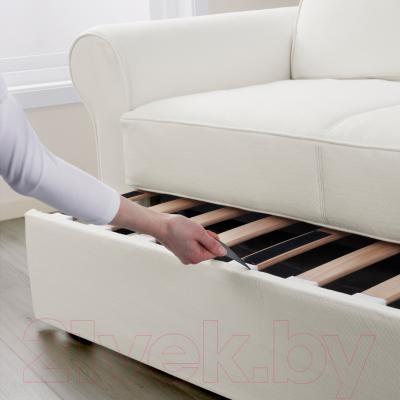 Диван-кровать Ikea Баккабру 791.341.10 (Хильте белый) - в процессе раскладки