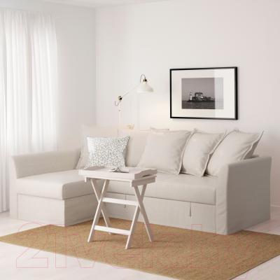Угловой диван-кровать Ikea Хольмсунд 791.507.51 (Нордвалла бежевый)