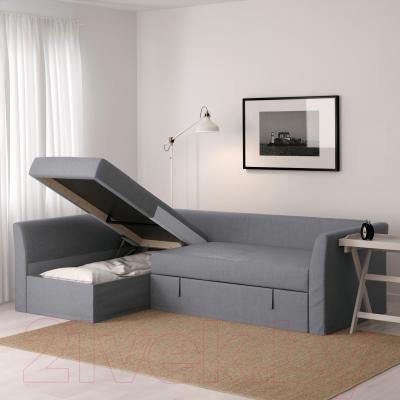 Угловой диван-кровать Ikea Хольмсунд 791.507.46 (Нордвалла серый)