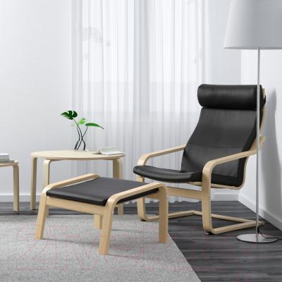 Банкетка Ikea Поэнг 798.150.47 (березовый шпон/черный)