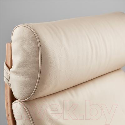 Кресло Ikea Поэнг 798.305.85 (дубовый шпон/светло-бежевый)