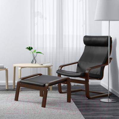 Кресло Ikea Поэнг 798.608.03 (коричневый/черный)