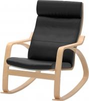 Кресло-качалка Ikea Поэнг 798.610.15 (березовый шпон/черный) -