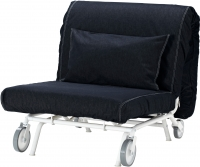 Кресло-кровать Ikea Икеа/Пс Левос 798.743.86 (темно-синий) -