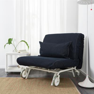 Кресло-кровать Ikea Икеа/Пс Левос 798.743.86 (темно-синий)