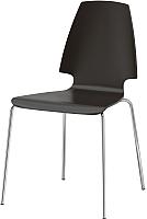Стул Ikea Вильмар 798.897.50 (коричнево-черный/хром) -