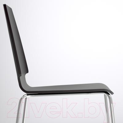 Стул Ikea Вильмар 798.897.50 (коричнево-черный/хром)