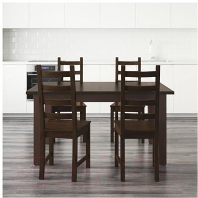 Обеденная группа Ikea Стурнэс / Каустби 798.980.66 (коричнево-черный)