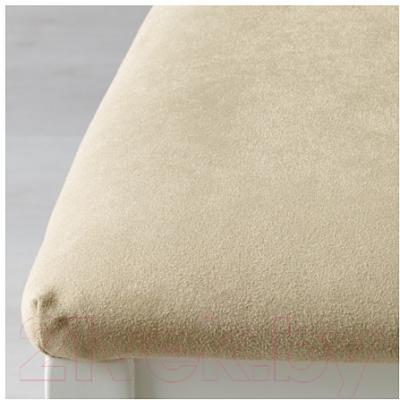 Обеденная группа Ikea Бьюрста / Берье 890.052.21 (белый/песочный)