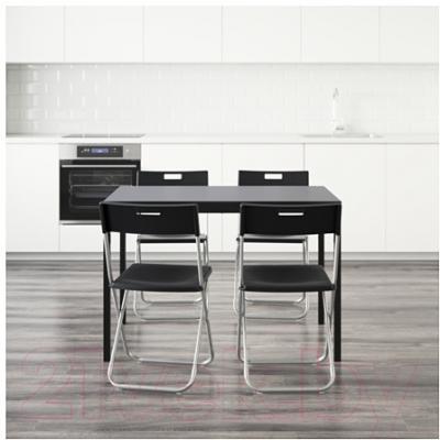 Обеденная группа Ikea Тэрендо / Гунде 890.106.99 (черный)