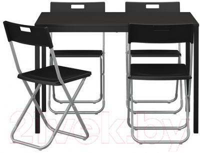 Обеденная группа Ikea Тэрендо / Гунде 890.106.99 (черный) - Инструкция по сборке