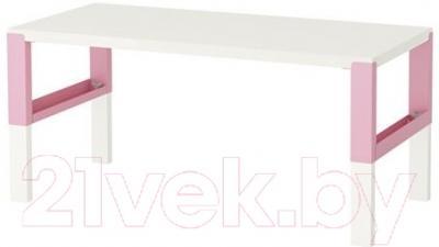 Письменный стол Ikea Поль 291.289.51 (белый/розовый)