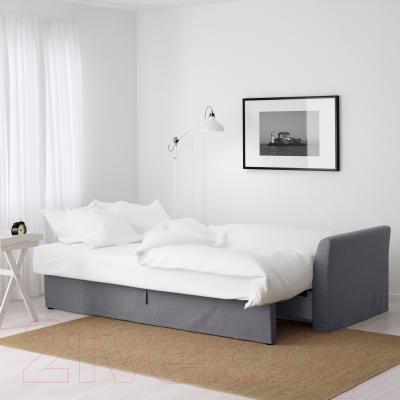 Диван-кровать Ikea Хольмсунд 291.406.27 (Нордвалла серый) - в разложенном виде
