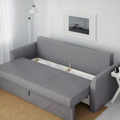 Диван-кровать Ikea Хольмсунд 291.406.27 (Нордвалла серый) - ящик для хранения белья