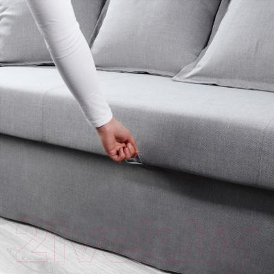 """Диван-кровать Ikea Хольмсунд 291.406.27 (Нордвалла серый) - механизм трансформации """"еврокнижка"""""""