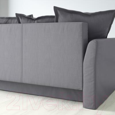 Диван-кровать Ikea Хольмсунд 291.406.27 (Нордвалла серый) - вид сзади