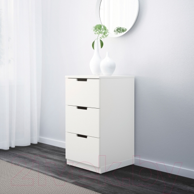 Комод Ikea Нордли 890.211.36 (белый)