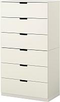 Комод Ikea Нордли 890.211.79 (белый) -