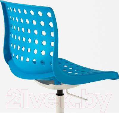 Стул офисный Ikea Сколберг/Споррен 890.236.06 (синий/белый) - вид сзади