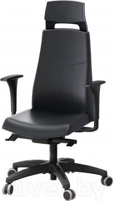 Кресло офисное Ikea Вольмар 890.317.34 (черный)
