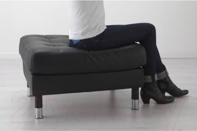Банкетка Ikea Ландскруна 890.318.09 (черный/металл)