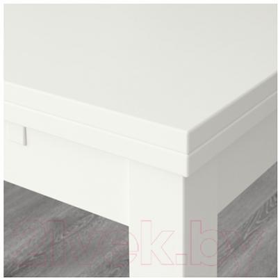 Обеденная группа Ikea Бьюрста / Норнэс 890.464.91 (белый/серый)