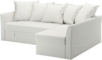 Угловой диван-кровать Ikea Хольмсунд 890.486.40 (Ранста белый) -