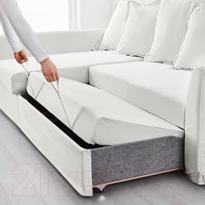 Угловой диван-кровать Ikea Хольмсунд 890.486.40 (Ранста белый)