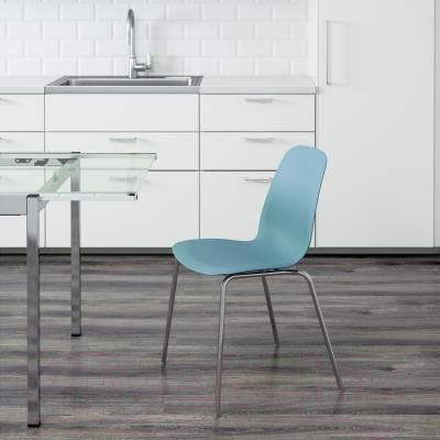Стул Ikea Лейф-Арне 891.278.02 (голубой/хром)