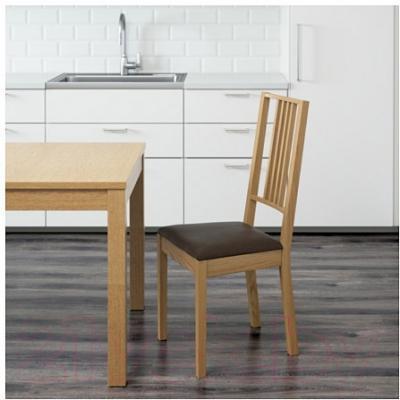 Стул Ikea Берье 891.283.83 (дуб/коричневый)