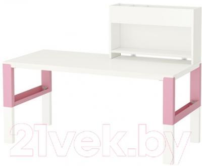 Письменный стол Ikea Поль 891.289.67 (белый/розовый)