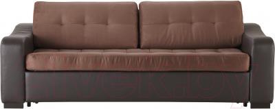 Диван-кровать Ikea Лиарум/Лэннэс 891.304.75 (коричневый/темно-коричневый) - вид спереди