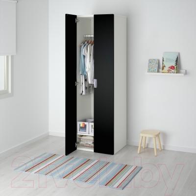 Шкаф Ikea Стува 891.335.63 (белый/черный)